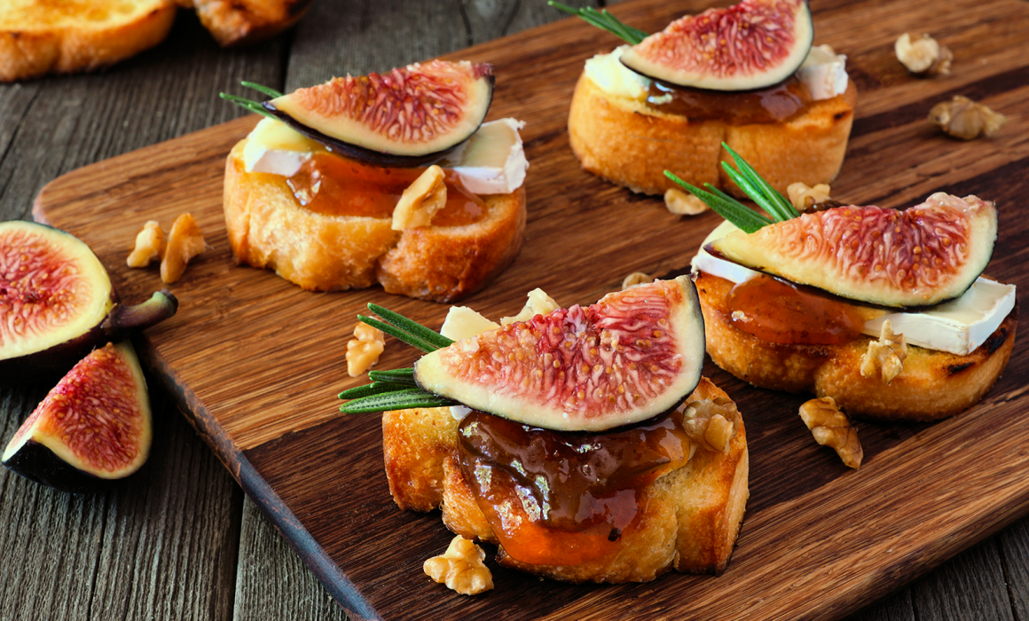 Walnut Toast with Asiago and Fig Jam